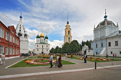 大教堂正方形在Kolomna克里姆林宫 库存图片