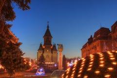 大教堂正统罗马尼亚timisoara 免版税库存图片