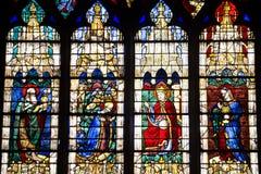 大教堂沙特尔玻璃弄脏了 图库摄影