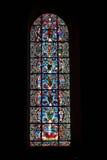 大教堂沙特尔玻璃被弄脏的视窗 免版税库存图片