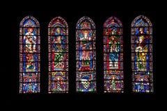 大教堂沙特尔vitrages 免版税库存照片