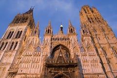 大教堂法国鲁昂 免版税库存图片