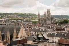 大教堂法国鲁昂 库存照片