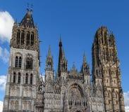 大教堂法国鲁昂 免版税库存照片