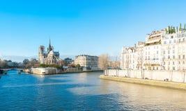 大教堂法国贵妇人notre巴黎 图库摄影