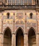 大教堂片段布拉格st vitus 免版税库存图片