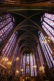 大教堂玻璃弄脏了 库存图片