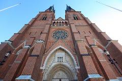 大教堂瑞典乌普萨拉 库存图片