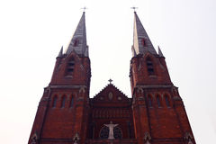 大教堂瓷上海 库存照片