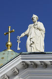 大教堂的传道者彼得在赫尔辛基 库存照片