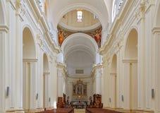大教堂的内部-诺托 免版税库存照片