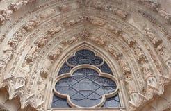 大教堂的哥特式装饰 免版税库存图片