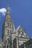 大教堂的尖顶在萨利,英国 免版税图库摄影