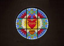 大教堂的彩色玻璃 库存图片