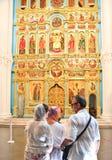大教堂的法坛 2007第23个耶路撒冷6月修道院新的俄国 Istra 假定大教堂dmitrov克里姆林宫莫斯科明信片区域俄国冬天 库存照片