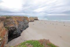 大教堂的海滩 图库摄影
