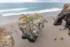 大教堂的海滩 库存图片