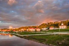 大教堂的看法在斯摩棱斯克,俄罗斯 免版税库存照片