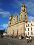 大教堂的看法在波哥大,哥伦比亚。 库存照片