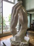 大教堂的罗丹雕塑罗丹博物馆,巴黎,法国画廊的  库存照片