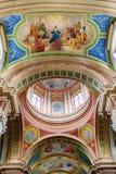 大教堂的美丽的色的圆顶 免版税库存照片