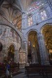 大教堂的里面看法在阿维拉 图库摄影