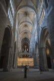 大教堂的里面看法在阿维拉 免版税库存照片