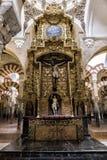 大教堂的里面看法在阿维拉 库存照片
