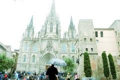 大教堂神圣的家庭在巴塞罗那 免版税库存图片