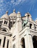 大教堂神圣basilique coeur du heart巴黎的sacr 库存图片