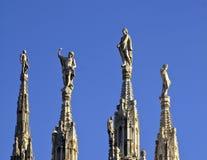 大教堂米兰尖顶 免版税库存图片