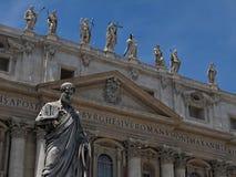 大教堂罗马教皇的彼得圣徒 库存照片