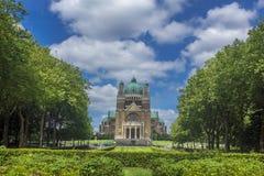 大教堂耶稣圣心Parc Elisabeth布鲁塞尔比利时 免版税库存照片