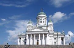 大教堂芬兰赫尔辛基 免版税库存图片