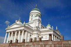 大教堂芬兰赫尔辛基 免版税库存照片