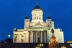 大教堂芬兰赫尔辛基 库存照片