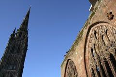 大教堂英国米德兰平原尖顶 库存照片