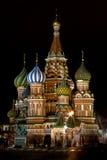 大教堂莫斯科晚上俄国 免版税库存照片