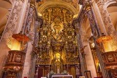 大教堂萨尔瓦多塞维利亚安大路西亚西班牙的法坛教会 免版税库存图片