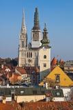 大教堂萨格勒布 库存照片