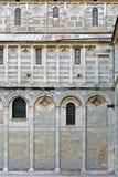 大教堂西方意大利比萨的墙壁 图库摄影
