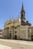 大教堂视图,亚历山德里亚,意大利 库存照片