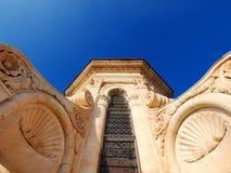 大教堂详细资料佛罗伦萨意大利 库存图片