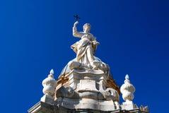 大教堂详细资料巴勒莫西西里岛 库存图片