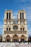 大教堂贵妇人notre巴黎 库存图片