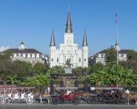 大教堂路易斯・新奥尔良圣徒 免版税库存照片
