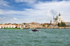 大教堂运河della全部玛丽亚致敬圣诞老&#201 图库摄影