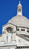 大教堂重点神圣的巴黎 库存图片