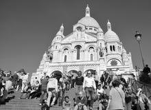 大教堂重点神圣的巴黎 库存照片