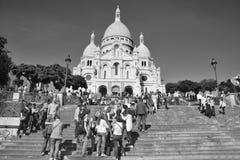 大教堂重点神圣的巴黎 免版税库存图片